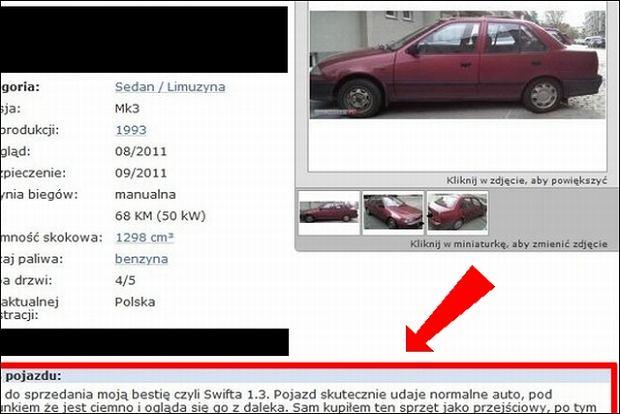 Genialna Oferta Sprzedaży Samochodu Szczerość Powala