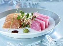 Cesarskie sashimi z tuńczyka i łososia norweskiego - ugotuj