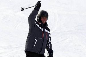 Prezydent Komorowski na nartach