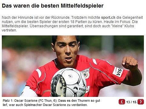 Ezequiel Oscar Scarione, FC Thun