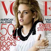 Kristen Stewart w bujnej fryzurze w  obiektywie Mario Testino na okładce lutowego wydania amerykańskiego Vogue