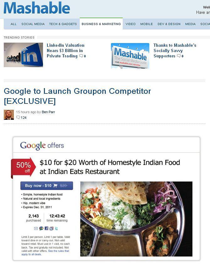 Google przygotowuje własny serwis zakupów grupowych?
