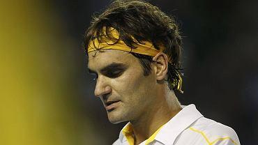 Roger Federer w czasie przegranego półfinałowego meczu w Australian Open z Novakiem Djokoviciem