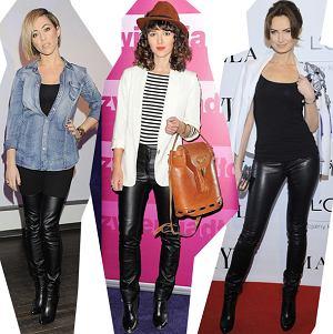 Gwiazdorski trend - skórzane spodnie