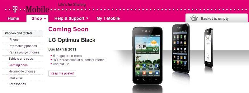 Samsung Optimus Black