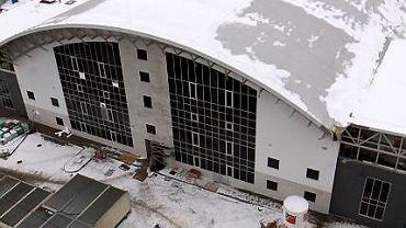Budowa hali w Jastrzębiu jeszcze trwa