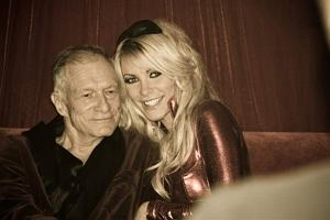 Crystal Harris i Hugh Hefner.