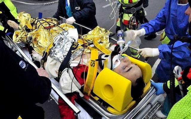 6 lutego, Włochy. Robert Kubica po wypadku podczas rajdu samochodowego