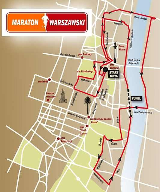 Trasa 6. Półmaratonu Warszawskiego