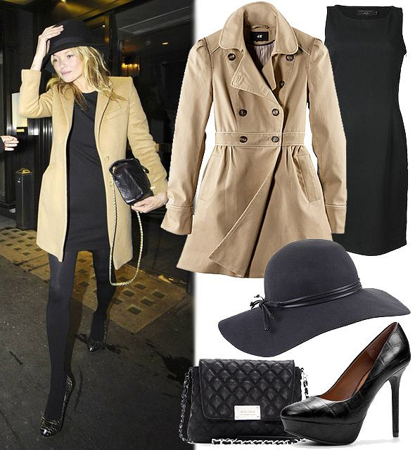 Zestaw ubrań w stylu Kate Moss