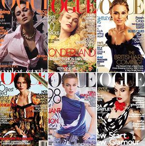 Okładki Keiry Knightley dla Vogue