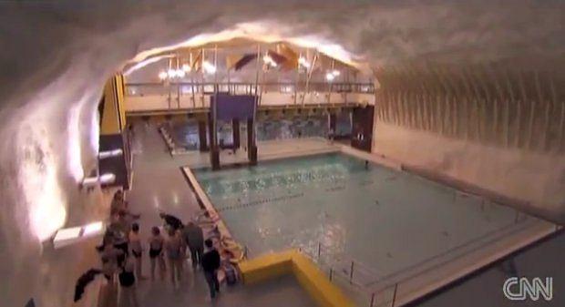 Podziemny basen | fot. CNN