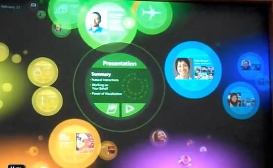 Przyszlościowy interfejs Microsoftu.