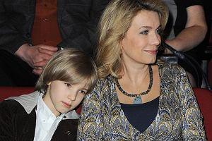 Joanna Trzepiecińska pojawiła się na Premierze sztuki Morfina w Warszawie. Przyszła z synem.