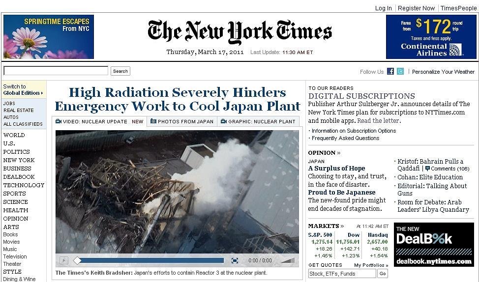 Za przeglądanie artykułów NYT umieszczonych w sieci, trzeba będzie płacić