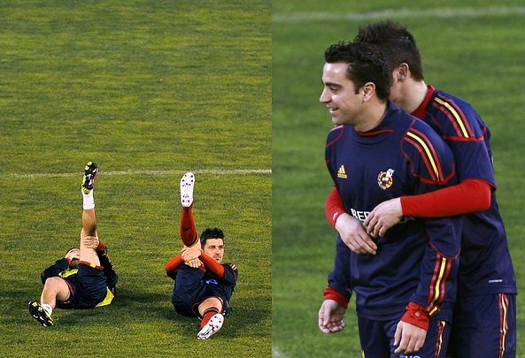 Repreyentacja Hiszpanii na treningu
