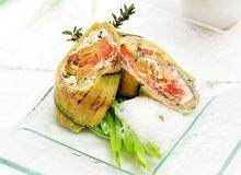 Roladka z warzyw grillowanych z serem - ugotuj