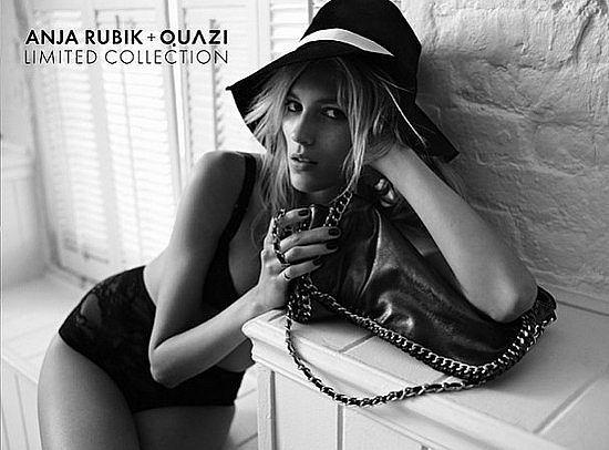 Supermodelka Anja Rubik po raz kolejny została twarzą marki Quazi.