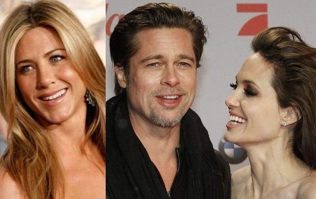 Jennifer Aniston, Brad Pitt, Angelina Jolie