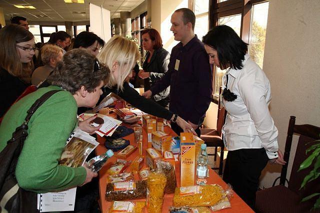 Prezentacja produktów bezglutenowych podczas konferencji