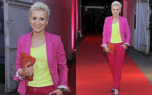 Prezenterka TVN24 Marta Kuligowska na imprezie Fashion Designer Awards