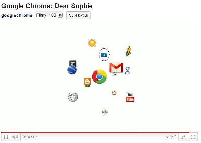 1 w reklamie przeglądarki Chrome