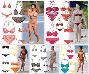 lato 2011, wiosna 2011, bikini, stroje kąpielowe, inspiracje, trendy, kostiumy kąpielowe, w stylu gwiazd