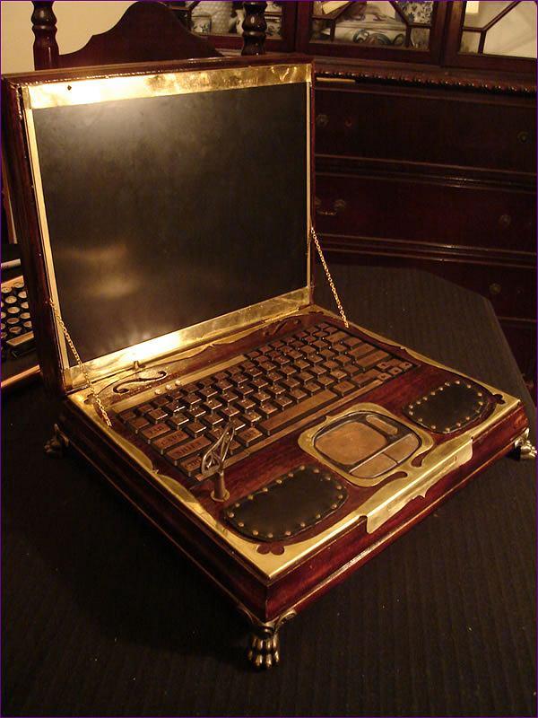 Wiktoriański laptop Datamancer.