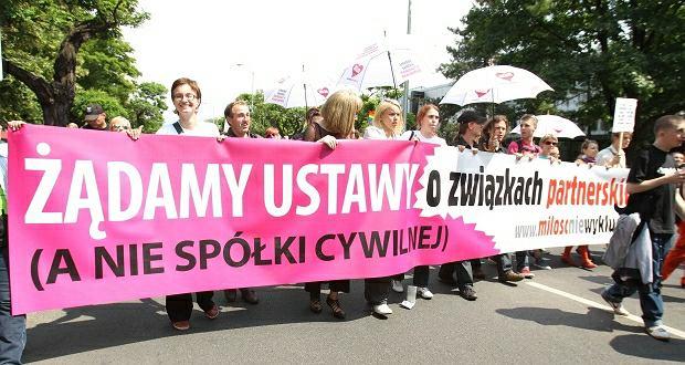 Parada Równości 2011 na ulicach Warszawy