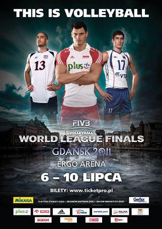 Zbyszek Bartman na plakacie promującym turniej finałowy LŚ 2011