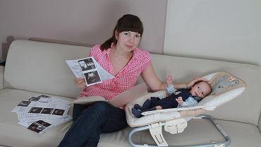 Marta z Warszawy przeszła w trakcie ciąży dziewięć badań USG. Lekarz podejrzewał u jej synka wodogłowie. Staś urodził się zdrowy.