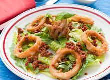 Sałatka z kalmarami i suszonymi pomidorami - ugotuj