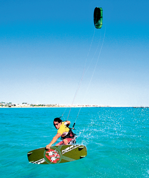 kitesurfing,