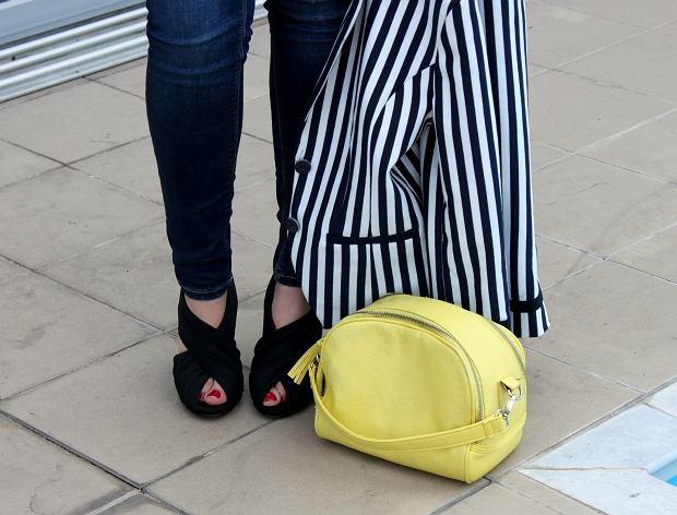 marynarka - H&M, spodnie - Zara, buty - CCC, torebka - Troll