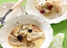 Pierogi z czereśniami zapiekane w sosie waniliowym - ugotuj