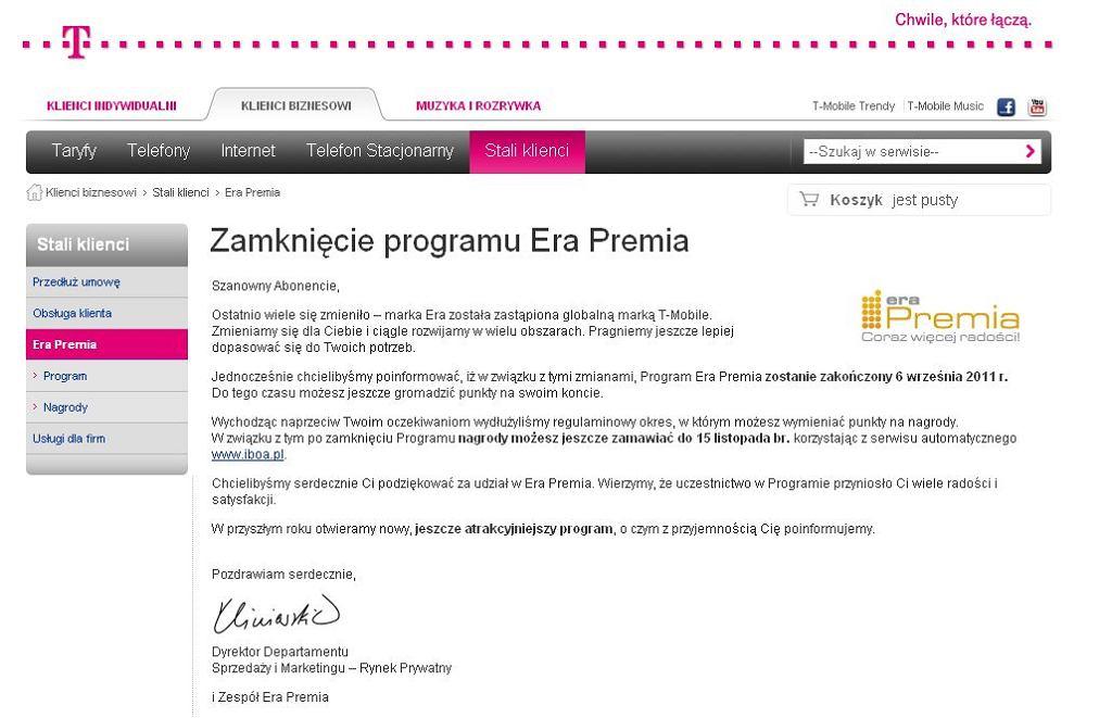 T-Mobile kończy program Era Premia