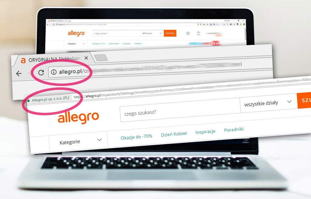 Niebezpiecznik.pl twierdzi, że brak HTTPS w całym serwisie Allegro niesie potencjalne ryzyko przejęcia konta