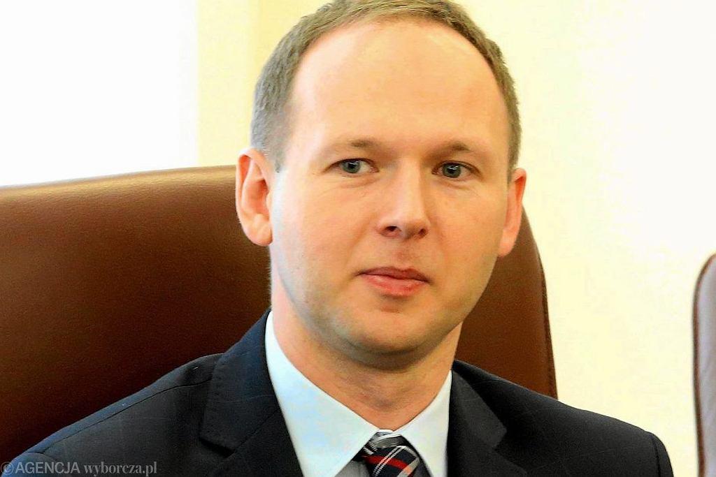 Marek Chrzanowski podczas posiedzenia Rady Polityki Pieniężnej. Warszawa, 5 kwietnia 2016