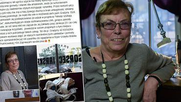 Grażyna Owczarek w Łodzi pracownię gorseciarską przy ulicy Jaracza 23. Zdjęcia powstały w ramach projektu Młodzi szukają mistrzów, współfinansowanym przez Urząd Miasta Łodzi.