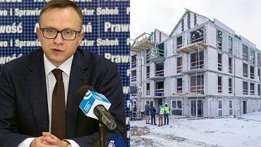 Artur Sobuń i jedna z inwestycji Mieszkania Plus