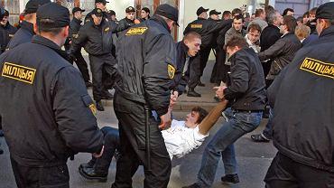 Zamieszki w Mińsku podczas Święta Niepodległości