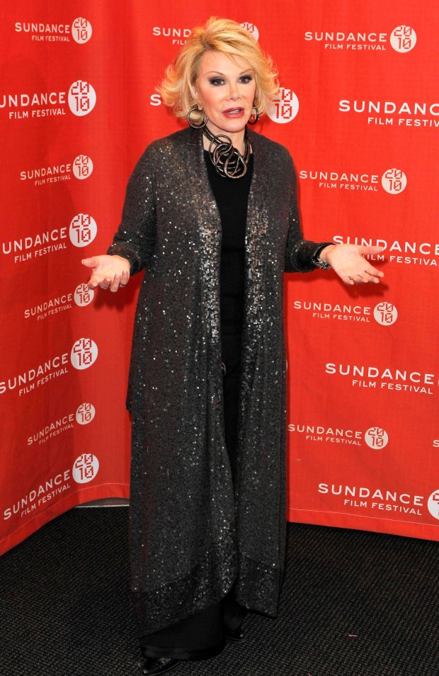 Comedian Joan Rivers arrives for the premiere of the documentary