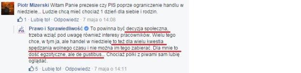 Jarosław Kaczyński o zakazie handlu w niedzielę