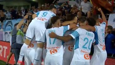 Olympique Marsylia po bramce Dimitriego Payeta w 1. kolejce Ligue 1. Źródło: TWitter