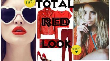 Czerwone stylizacje na jesień