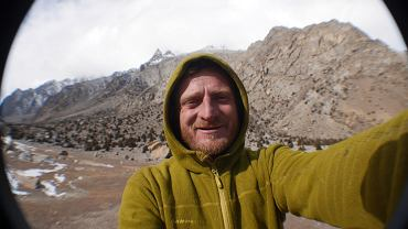 Tomasz Mackiewicz podczas wyprawy na Nanga Parbat