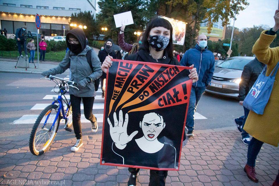 Strajk Kobiet. Blokada ronda Lussy w Białymstoku