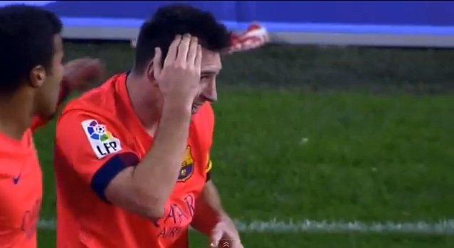 Lionel Messi trafiony butelką w głowę