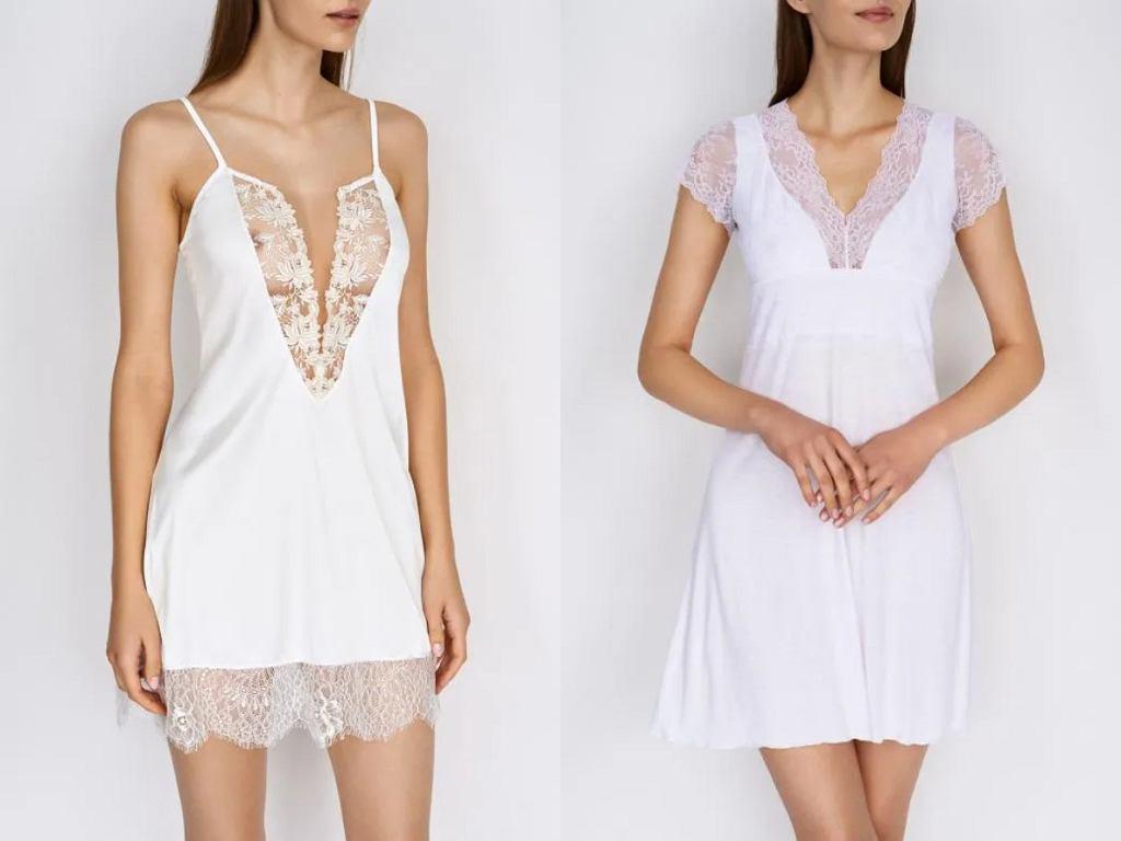 białe koszulki nocne