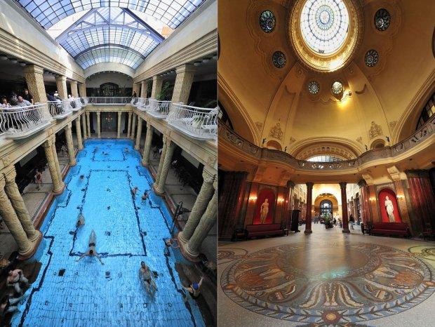 Kąpielisko termalne w hotelu Gellert w Budapeszcie